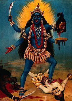 "Kali--goddess of time and change, often a symbol of destruction but also a symbol of creation. My ""goddess"" of anger."