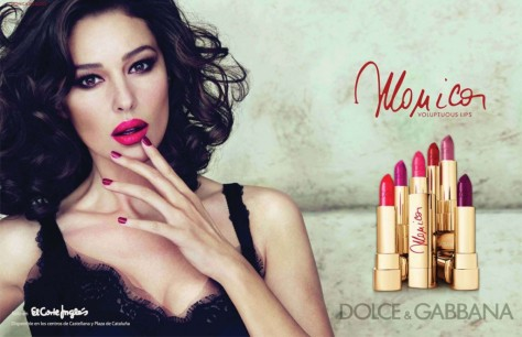 Advertisers had it right all along! Here we see an acceptable, empowering version of a woman's face from Dolce and Gabana. Note that the empowering part comes from the fact that, even though she's not talking, she's showing off this awesome new lipstick color!