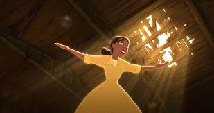 Tiana surveying the building for her restaurant, from The Princess and the Frog. 2009