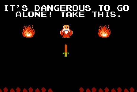 A scene from Zelda that has become a meme. Found at zeldauniverse.net