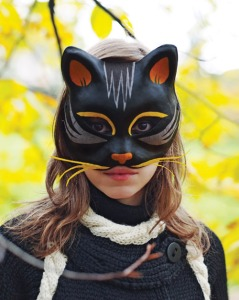 Black Cat Mask project from Martha Stewart